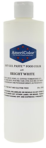 Food Coloring AmeriColor  Bright White Soft Gel Paste 20 Ounce