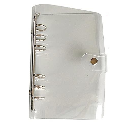 Carpeta de archivo de clip de plástico de color transparente A4 / A5 / A6 / A7 Carpeta de cubierta de cuaderno Organizador de cuaderno suelto Diario Material de oficina escolar