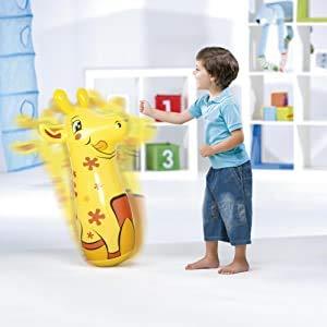 ML hinchables tentepie muñecos y Animales Hinchable tentetioso . muñeco Dinosaurio Hinchable para niños (Amarillo-girafa)