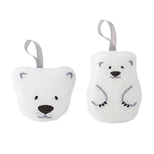 Lavavajillas Sponge Limpie 2 Piezas Cabeza de Oso Creativo y de Oso Cachorro Espíritu Esposas Stronges Descontaminación para Platos, Ollas y Sartenes Cocina para el Hogar