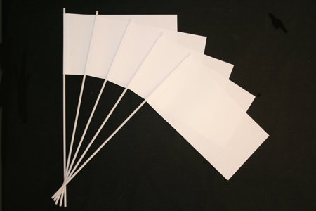 Everflag Papierfähnchen: Weiß 50er Packung