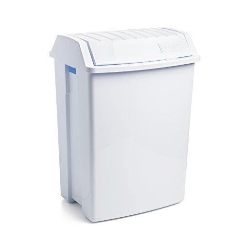 Tatay Papelera con Tapa basculante 49 litros de Capacidad, Blanco, 40 x...