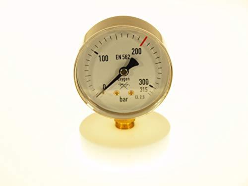 THERMIS Manomètre de soudage 404 | Manomètre de soudage pour la mesure de pression de gaz techniques | Entrée (0-315 bar) | Connexion inférieure