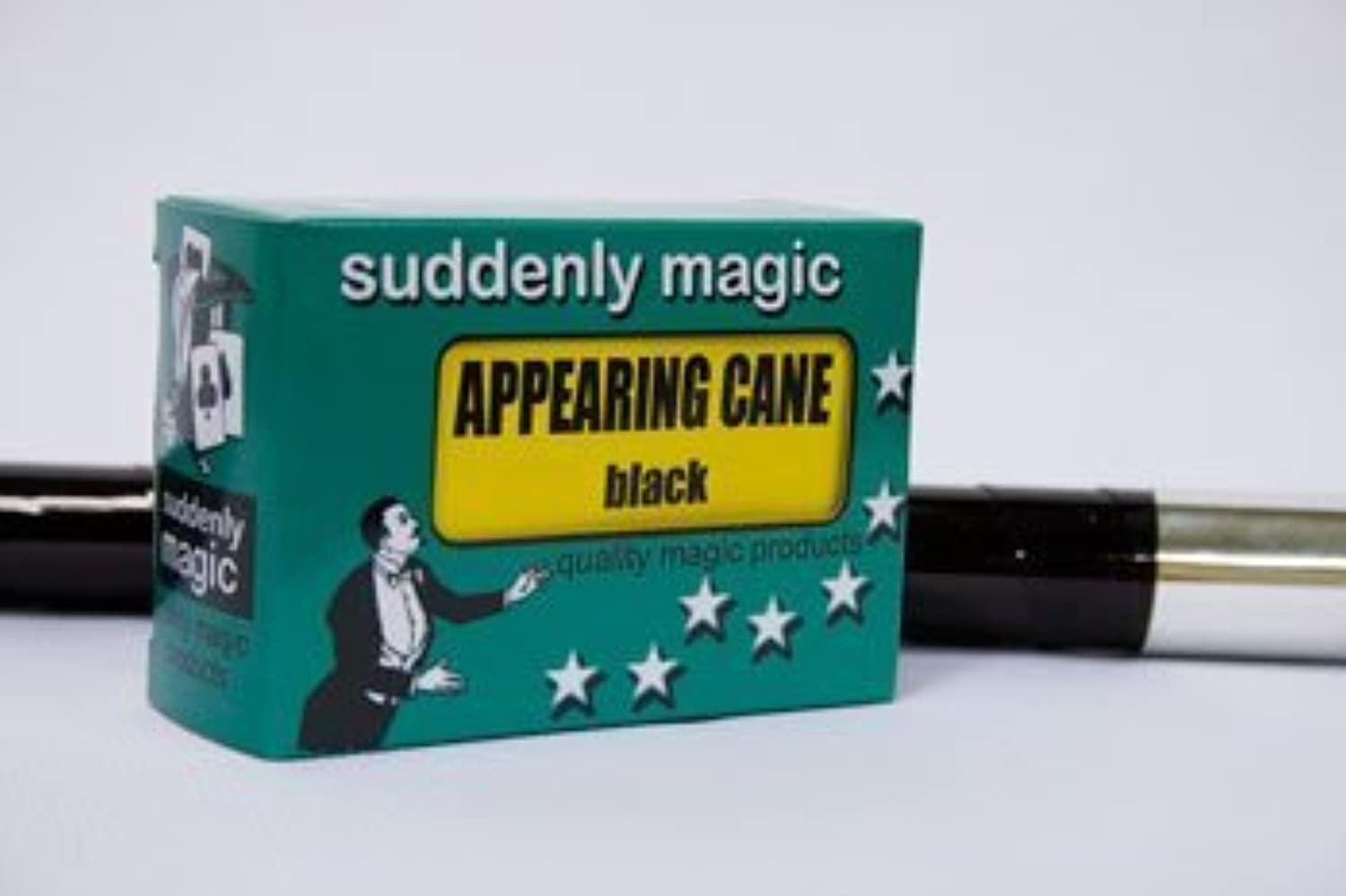 Appearing Cane (Heavy Plastic)  Black by Suddenly Magic