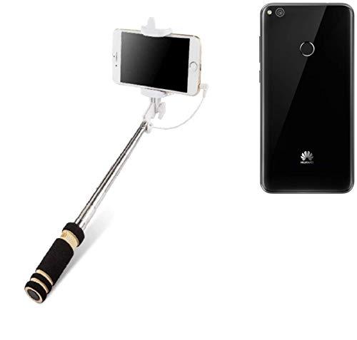 Selfie Stick per Huawei P8 Lite 2017 Single SIM, nero, Monopiede, asta telescopica, Autoritratto