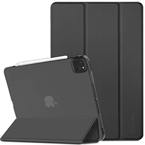 EasyAcc Custodia Cover Compatibile con iPad PRO 11 2021/2020 (3ª Generazione), Cover Posteriore Opaca Ultra Sottile Traslucida con Funzione Auto Wake Up/Sleep, Nero