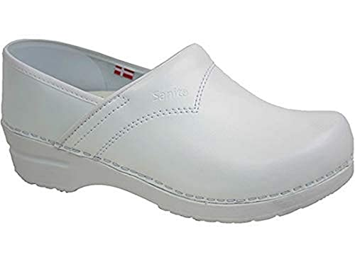 Sanita 812443 Modelo 313 Flex - Zueco cerrado, color blanco, talla 43