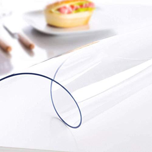 PLEASUR Mantel de PVC Transparente, Cristal, antiincrustante, a Prueba de Aceite, Protector de Lavado, Protector de Mesa, Adecuado para Escritorio, Mesa de Comedor, 1,5 mm-60x60 cm (24x24 Pulgadas)