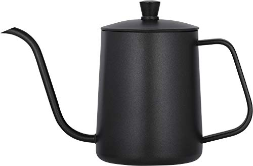 Mini 20oz Pour Over Coffee Kettle,Small Pour Over Coffee Kettle 20 Ounce,Black Pour Over Coffee Kettle,Pour Over Coffee Kettle Stainless Steel