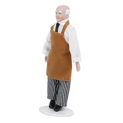 Casa de muñecas de Porcelana, Sirviente Victoriano, Juguetes de cerámica para Personas pequeñas, con articulaciones móviles, Amantes de la casa de muñecas de 6 Pulgadas,(Store)
