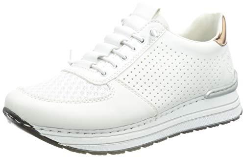 Rieker Damen N6926 Sneaker, Weiß 38 EU