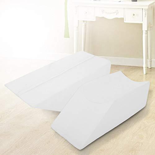 Almohada de elevación de doble pierna, almohada de apoyo de piernas con esponja de 50 x 20 x 15 cm para mayor comodidad (azul)