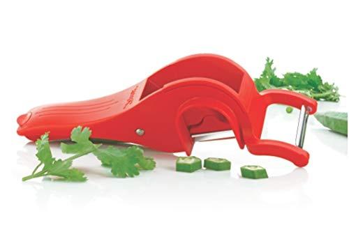 Apex Plastic Multi Cutter with Peeler, Multicolour
