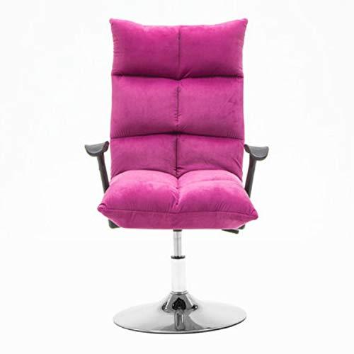 Jinyang Silla de salón hogar moderno minimalista ordenador reclinable silla de belleza 45cm Disco franela silla (gris) Jinyang (Color : Pink)