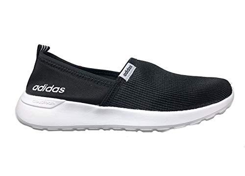 adidas Women's Cloudfoam Lite Racer Slip On, Black/White, 8