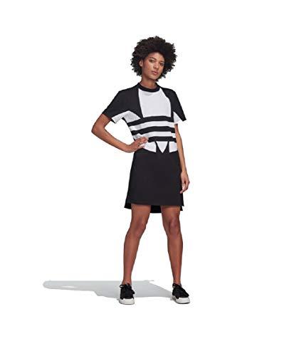 Adidas - Vestido con logotipo grande blanco/negro 40