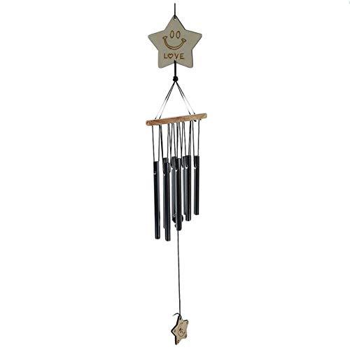 Coner Windgong 8 Buizen Antiek Resonant Windgong Buiten Wonen Tuinbuizen Klokken Tuindecoratie Metaal Wind, Pentagram