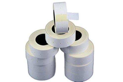 10 rollos blanco 21 x 12 mm pegatinas papel colores
