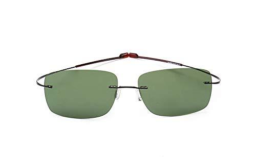 XZZ Gafas De Sol Cuadradas Sin Marco De Titanio Gafas De Sol