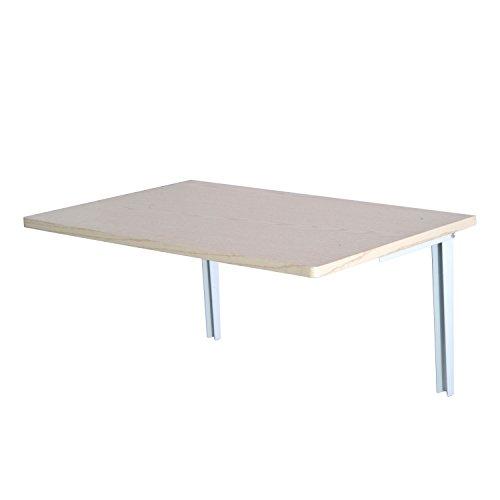 HOMCOM Wandklapptisch Wandtisch Klapptisch Esstisch Schreibtisch, MDF, Natur/weiß, 60x40cm (Natur)