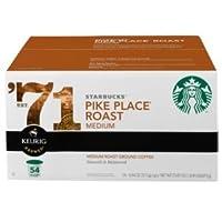 K-カップ スターバックス K-cup Keurigワーズ パイクプレイスローストコーヒー54個お買い得 並行輸入品