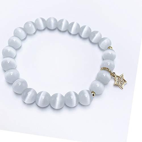 GZMUS Feng Shui Pulsera para Mujer Pulsera De Riqueza Blanco Pulsera De Ópalo Pulsera De Cristal Atraer El Regalo Lucky Trae Suerte Prosperity