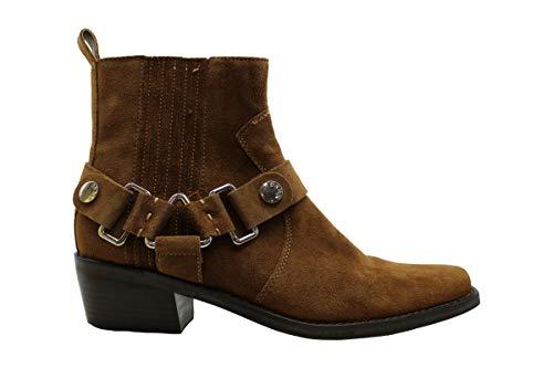 DKNY Frauen Pumps rund Wildleder Fashion Stiefel Braun Groesse 9 US /40 EU
