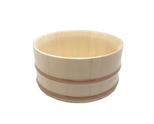 風呂桶 22.5cm エゾマツ製 【持ちやすい斜口タイプ】