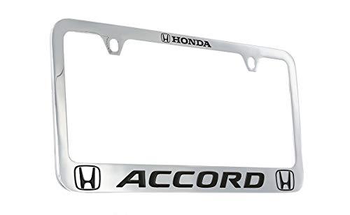 Honda Accord Wordmark Chrome Plated Metal License Plate Frame Holder 2 Hole