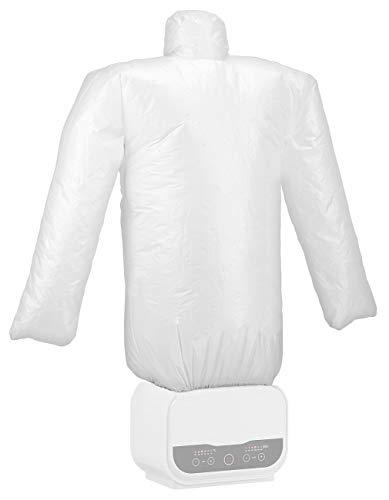 Sichler Haushaltsgeräte Hemdenbügler: Digitale 2in1-Bügelpuppe mit Warmluft-Gebläse, Timer, 1.200 Watt (Bügelautomat)