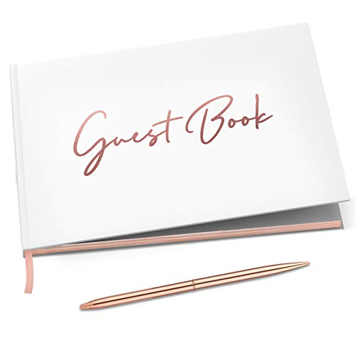Rose Gold Guest Book (100 Pages)