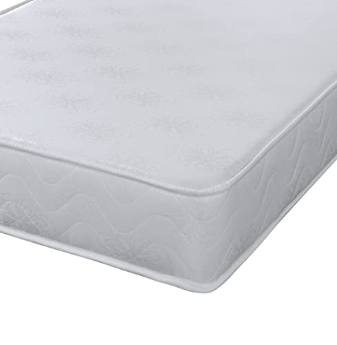 3ft Single White Daisy Flattop Mattress Great For Kids, Bunk Beds, Cabin Beds Etc by eXtreme comfort ltd