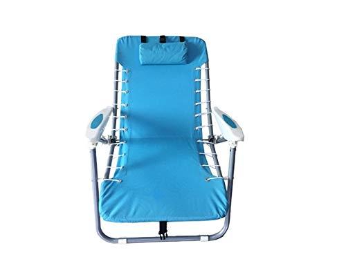 Sillón reclinable al aire libre Al aire libre plegable silla de cubierta mochila portátil silla del ocio taburete respaldo playa for acampar de múltiples etapas silla de pesca ajustable 60 * 55 * 75cm