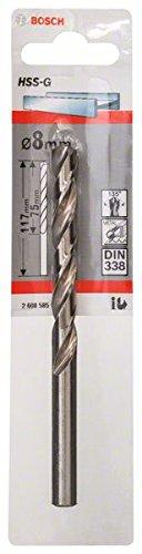 Bosch Professional Metallbohrer HSS-G geschliffen (Ø 8 mm)