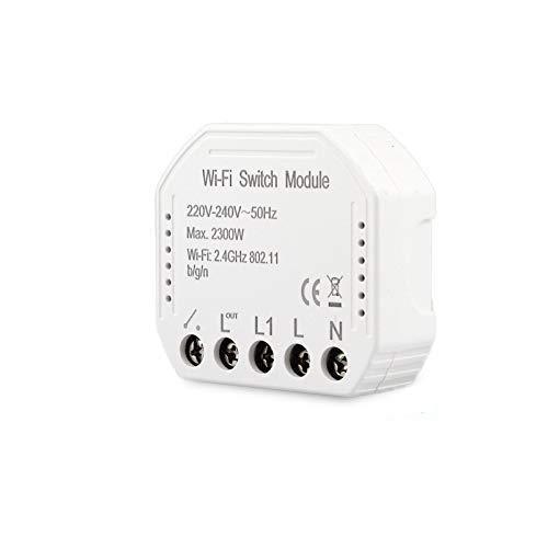 Smart Light Switch Módulo de interruptor inteligente Smart Life/Tuya APP Mando a distancia, funciona con Alexa Echo Google Home 1/2 vía