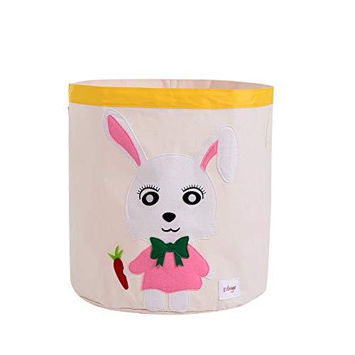Almacenamiento caja SHIHONGPING Caja de almacenamiento de juguetes de dibujos animados los niños la cesta del almacenaje plegable de la cesta de lavadero plegable Kid Ropa de niños juega al organizado