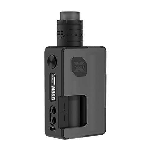 Original Vandyvape Pulse X BF Kit, E Zigarette Akku 90W Pulse X RDA 8ml mit Squonk-Flasche 18650 Batterie Adapter-Ohne Nikotin Ohne Tabak (Frosted Schwarz)