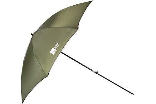 Zite Fishing Angelschirm 2,50m - Stabiler 210D Angler-Schirm mit Schutz-Hülle als Trage-Tasche - Auch für Camping