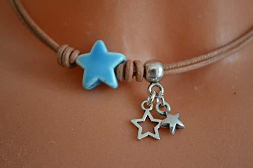 Halskette natur mit Sternen