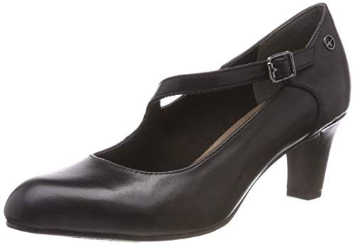 Tamaris Damen 24402-21 Mary Jane Halbschuhe, Schwarz (Black Leather 3), 38 EU