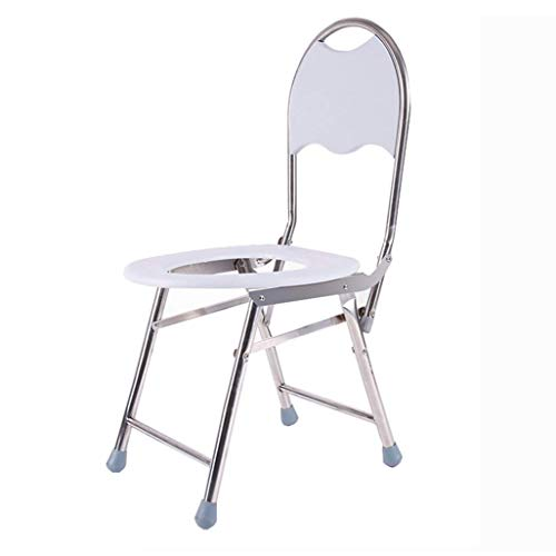 Zlinin, sgabelli da bagno pieghevoli, per doccia/bagno, in acciaio inox, con schienale per anziani/disabili/incinte, tappetino antiscivolo per doccia
