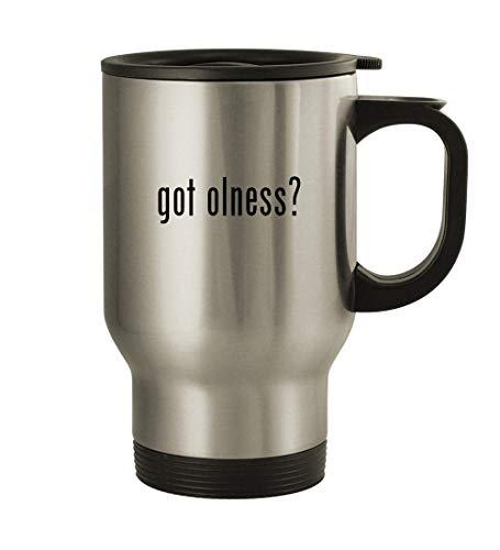 got olness? - 14oz Stainless Steel Travel Mug, Silver