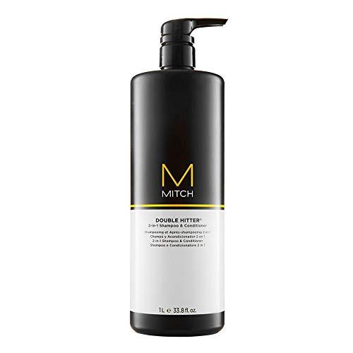 Paul Mitchell MITCH Double Hitter Shampoo & Conditioner - 2-in-1 Deep Cleansing Shampoo für Männer, Haar-Pflege Shampoo-Conditioner für milde Reinigung, 1000 ml