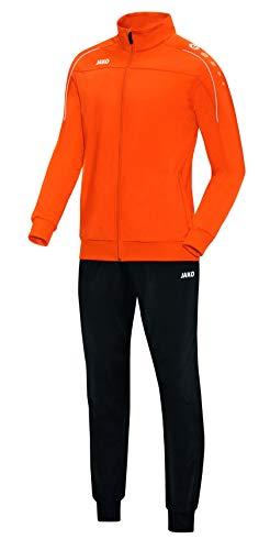 JAKO Herren Classico Trainingsanzug Polyester, Neonorange, XL