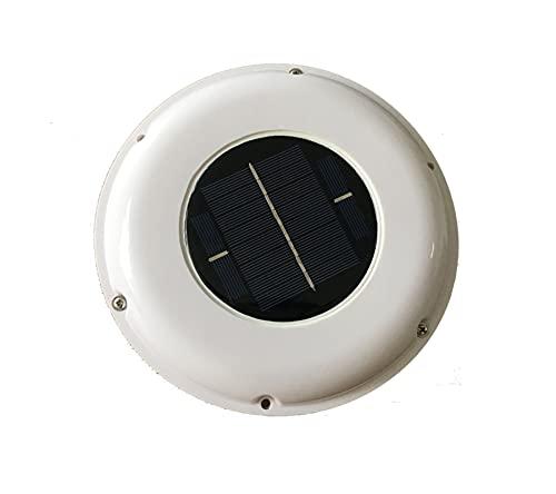 YANGQI yaoqijie Ventilatore A Ventola del Tetto Solare Ventilatore Automatico Φ12 0mm. Usato in Forma per ROULOTTE Barche Green House Bathroom Lasting (Color : White)