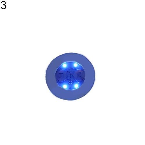 Verlike Set de Table Lumineux LED coloré pour Boissons, gobelets à Changement de lumière Bleu