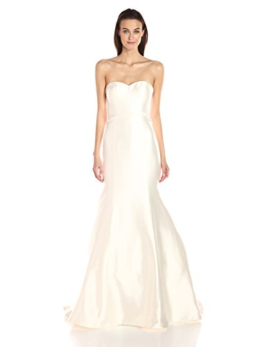 Jenny Yoo Women's London Silk Mikado Wedding Gown, Antique/White, 6 (Apparel)
