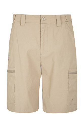 Mountain Warehouse Trek Stretch Mens Shorts - Cargo Shorts Dark Beige 36W