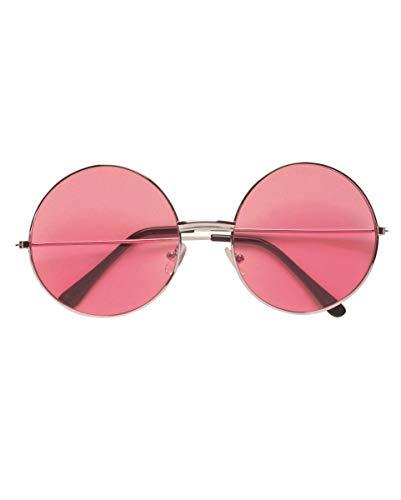 Horror-Shop Pinke 70er Sonnenbrille