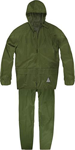 normani Wasserdichter Erwachsenen Regenanzug (Jacke und Hose) Farbe Oliv Größe M
